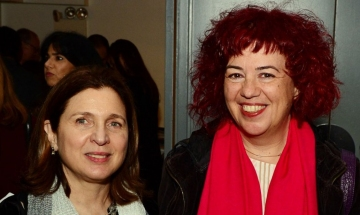 HFS associate director Eva Mallis and Holy Boom director Maria Lafi