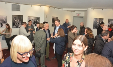 Celebrity chef Maria Loi hosts a reception at the 2019 New York Greek Film Expo.