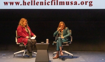 Emmy-Award winning producer Celia Costas was interviewed by and HFS board member Maria Miles.