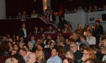 Sold-out audience at New York's Directors Guild Theater.